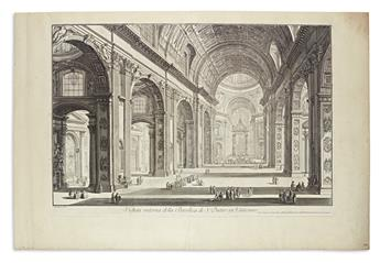 PIRANESI, GIOVANNI BATTISTA. Veduta Interna della Basilica di S. Pietro in Vaticano.