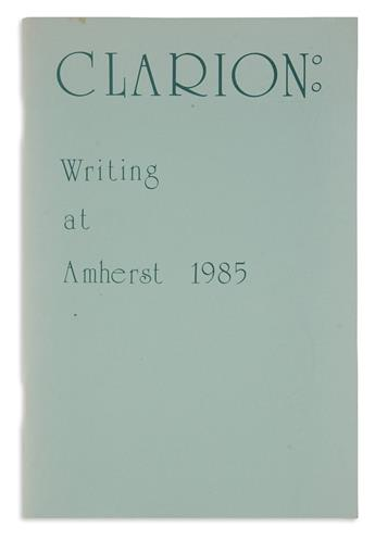 WALLACE, DAVID FOSTER. Mr. Costigan in May [in] Clarion: Writing at Amherst.