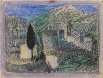 JOSEPH STELLA Italian Landscape.