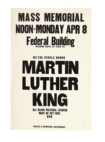 (CIVIL RIGHTS--KING, MARTIN LUTHER JR.) Mass Memorial. . . . We the People Honor Martin Luther King. All Black Political Leaders Must