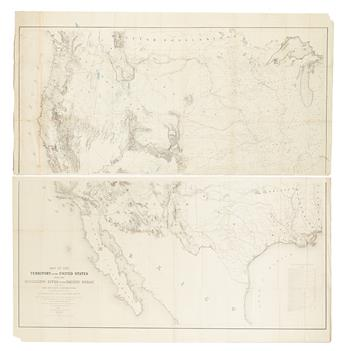 (AMERICAN WEST.) Warren, Gouverneur Kemble. Map of the Territory of the United States from the Mississippi to the Pacific Ocean;