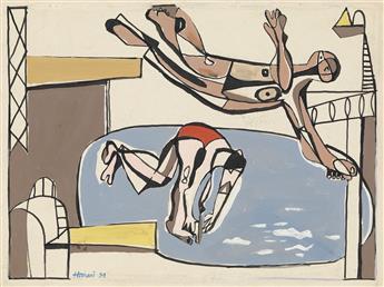 HANANIAH HARARI Swimming Pool with Divers.