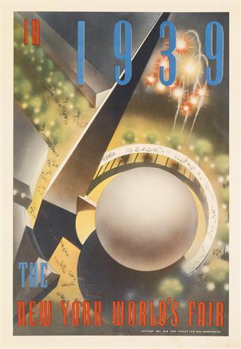 NEMBHARD N. CULIN (1908-1990). IN 1939 / THE NEW YORK WORLDS FAIR. 1937. 20x13 inches, 50x35 cm.