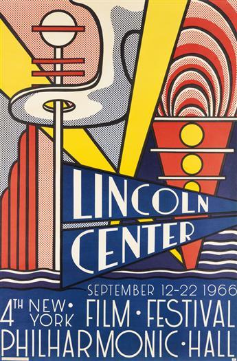 ROY LICHTENSTEIN (1923-1997). LINCOLN CENTER / FILM FESTIVAL. 1966. 45x29 inches, 114x75 cm. Union, New York.