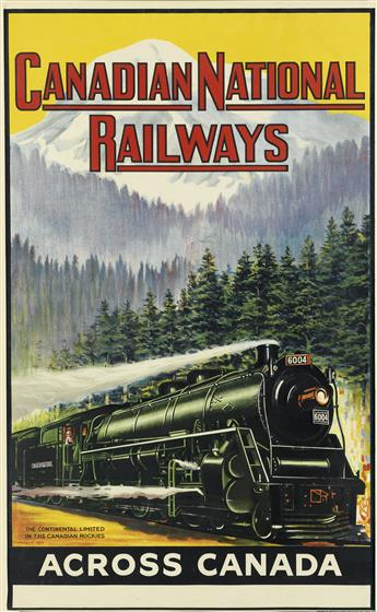 C. NORWICH (DATES UNKNOWN). CANADIAN NATIONAL RAILWAYS. 1924. 39x24 inches, 100x61 cm. Johnson, Ridle & Co., London.