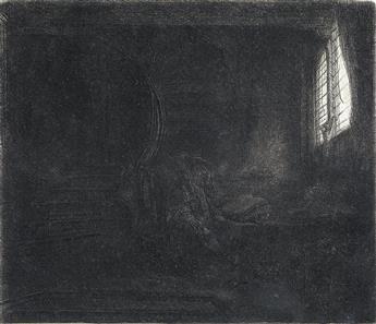 REMBRANDT VAN RIJN St. Jerome in a Dark Chamber.