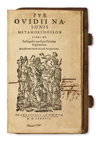 OVIDIUS NASO, PUBLIUS. Metamorphoseon libri XV.  1587