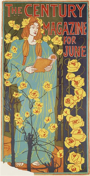 LOUIS J. RHEAD (1858-1926). THE CENTURY MAGAZINE FOR JUNE. 1896. 21x10 inches, 53x27 cm. The Century Co, New York.