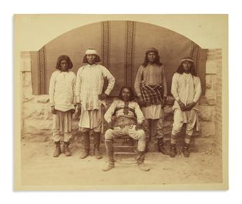 (AMERICAN INDIANS--PHOTOGRAPHS.) Haynes, Willis P.; photographer. The First Apache Indians Indicted (and Convicted) for Murder.