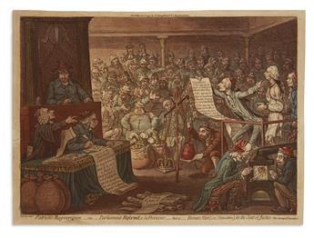 GILLRAY, JAMES. Patriotic Regeneration,__viz.__Parliament Reformd, a la Françoise,__