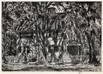 CHILDE HASSAM Lion Gardiner House.