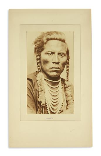 (AMERICAN INDIANS--PHOTOGRAPHS.) Barry, David F. Photograph of Curley.