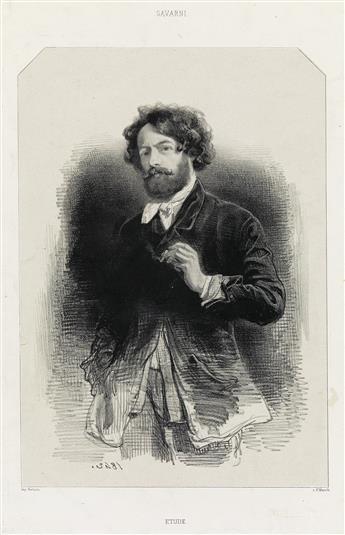 PAUL GAVARNI Group of 8 lithographs.