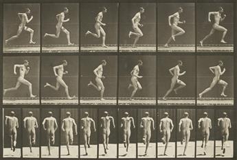 EADWEARD MUYBRIDGE (1830-1904) Man running, plate 62 from Animal Locomotion.