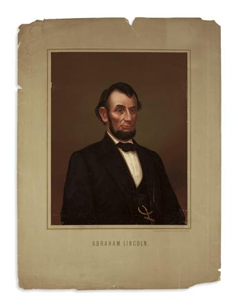 (PRINTS--PRESIDENTIAL.) Group of 23 prints of Lincoln published in Europe.