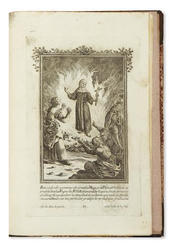 (MEXICAN IMPRINT--PUEBLA.) Nava, José de; engraver. [Vida de Santa Rosa de Viterbo.]