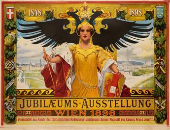 ALOIS HANS SCHRAM (1864-1919). JUBILÆUMS - AUSSTELLUNG / WIEN. 1898. 36x47 inches, 91x119 cm. S. Czeiger, Vienna.