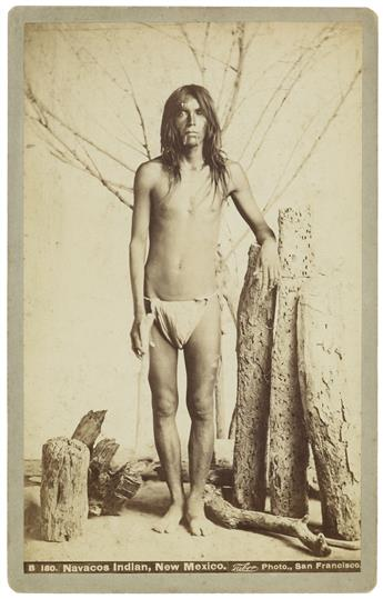 (AMERICAN INDIANS--PHOTOGRAPHS.) Group of 4 boudoir cards depicting Indians of Arizona and New Mexico.