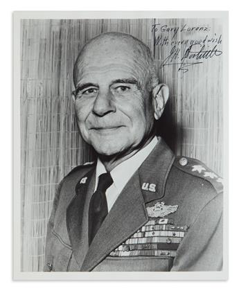 (WORLD WAR II.) JAMES H. DOOLITTLE. Photograph Signed and Inscribed, To Gary Lorenz: / With every good wish / J.H. Dool...
