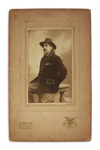 (WEST.) Photographs and programs from the career of John Henry Boutcher Cody, a Buffalo Bill protégé.