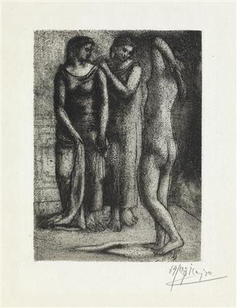 PABLO PICASSO Groupe de Trois Femmes.