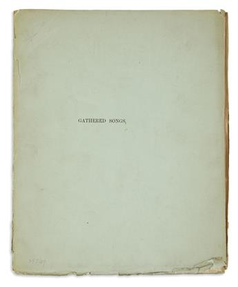 SWINBURNE, ALGERNON CHARLES. Gathered Songs.