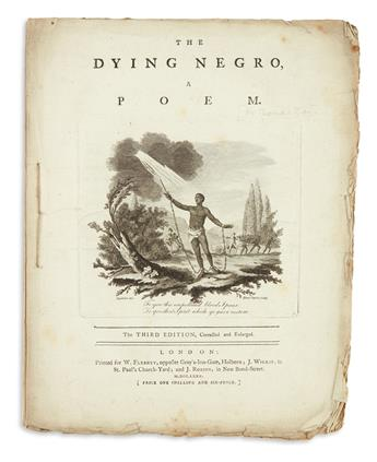 (SLAVERY AND ABOLITION.) [Day, Thomas; and John Bicknell.] The Dying Negro, a Poem.