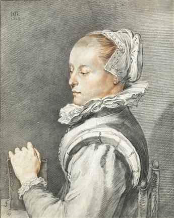 CORNELIS PLOOS VAN AMSTEL (after Goltzius) Bust of a Woman