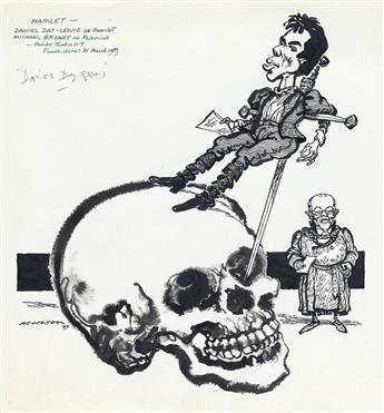 THEATER SHAKESPEARE WILLIAM HEWISON. Daniel Day-Lewis as Hamlet.