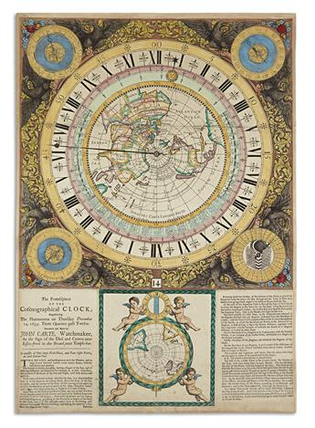 CARTE, JOHN. The Frontispiece of the Cosmographical Clock; Representing the Phoenomena on Thursday December 14, 1699.