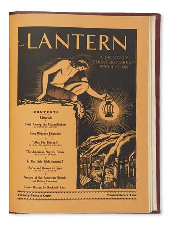 (RADICALISM.) Bound run of the antifascist magazine The Lantern.