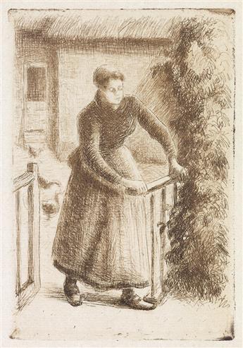 CAMILLE PISSARRO Femme à la barrière.