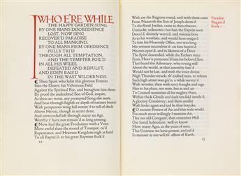 (DOVES PRESS / ASHENDENE PRESS.) Milton, John. Paradise Regaind.