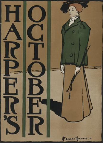 EDWARD PENFIELD (1866-1925). HARPERS OCTOBER. 1897. 19x14 inches, 49x35 cm.