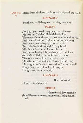 (DOVES PRESS.) Wordsworth, William. A Decade of Years: Poems by William Wordsworth 1798-1807.