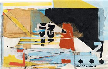 SAM MIDDLETON (1927 - 2015) Pair of collages.