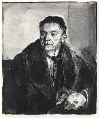 GEORGE BELLOWS Portrait of Robert Aitken, First Stone.