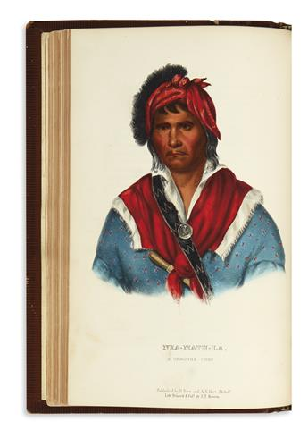 (AMERICAN INDIANS.) McKenney, Thomas; and Hall, James. History of the Indian Tribes of North America.