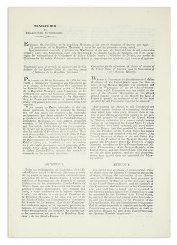 (MEXICO.) Convencion para el arreglo de reclamaciones /