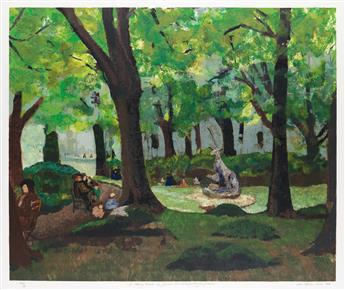 LOÏS MAILOU JONES (1905 - 1998) A Shady Nook (Le Jardin du Luxembourg).