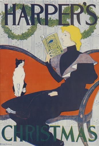 EDWARD PENFIELD (1866-1925). HARPERS CHRISTMAS. 1894. 18x12 inches, 45x31 cm.