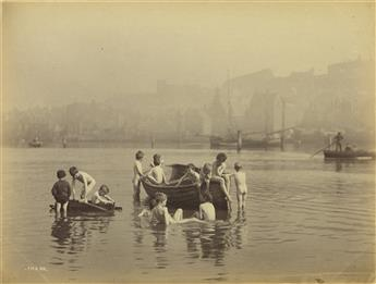 FRANCIS MEADOW SUTCLIFFE (1853-1941) Album with 64 photographs documenting Whitby, England, including the harbor and its occupants.