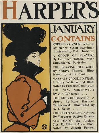 EDWARD PENFIELD (1866-1925). HARPERS JANUARY. 1898. 18x13 inches, 47x35 cm.