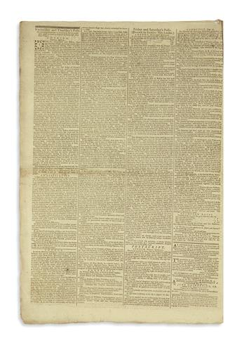 (AMERICAN REVOLUTION--1775.) Issue of the Cambridge Chronicle, describing war crimes at Lexington and Concord by both sides.