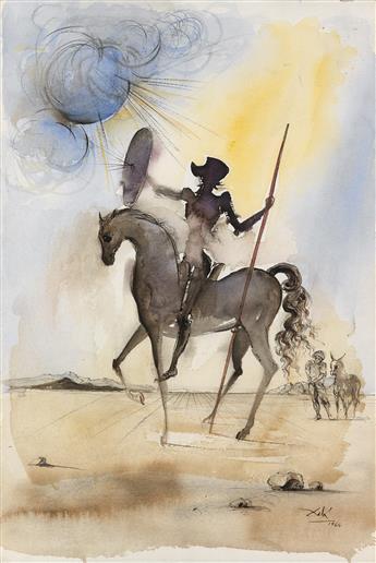 SALVADOR DALÍ Don Quichotte e Sancio Panza.