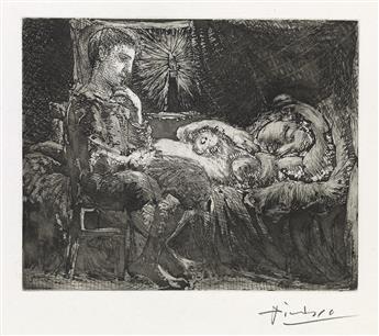 PABLO PICASSO Garçon et Dormeuse à la Chandelle.