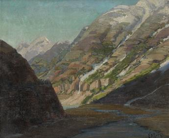 ERNEST DAVID ROTH Portion of the Jungfrau from Grindelwald.