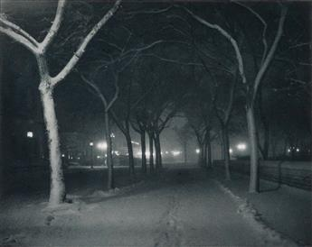 STIEGLITZ, ALFRED (1864-1946) An Icy Night, from Camera Work, Number 4.