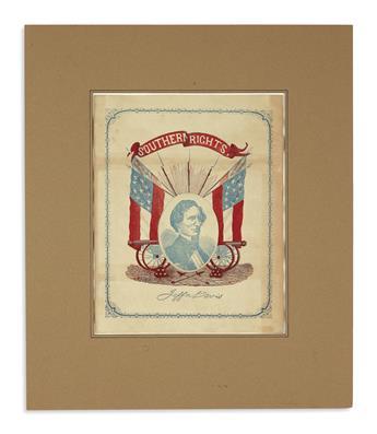 (EPHEMERA.) Group of ephemera relating to Jefferson Davis and Robert E. Lee.