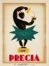 CHARLES LOUPOT (1892-1962) CAFE PRECIA. 1929. 31x23 inches. Les Belles Affiches, Paris.